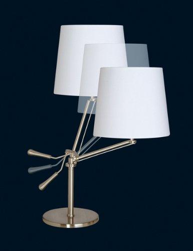 SOMPEX - Lampe à poser articulée blanche et chrome KNICK