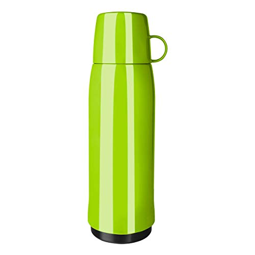 Emsa 518518 Rocket thermosfles, 0,9 liter, 12 uur warm, 24 uur koud, met dubbelwandige thermosfles van glas, BPA-vrij, groen