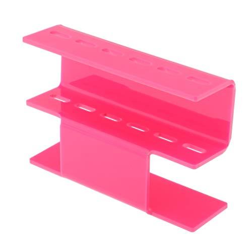 CUTICATE Support Présentoir de Pincettes Extension de Cils Pinces en Plastique Support D'étagère - Rose, 13,5 x 9 x 4cm