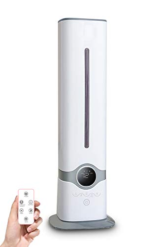 Ultrasonic Humidifier for Large Room, Home, Office, School, 9L/2.3GAL Large Capacity, Top-Refill, Smart Constant Humidity, Whisper-Quiet, Lasts Up to 30H, Diluted Hypochlorous can be Added