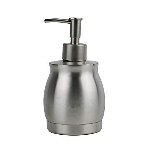 TOPBATHY Dispensador de jabón líquido de acero inoxidable de 390 ml