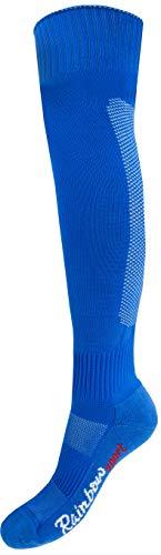 Rainbow Socks - Jungen Mädchen Fußball Soccer Kniestrümpfe - 1 Paar - Blau - Größen 24-29
