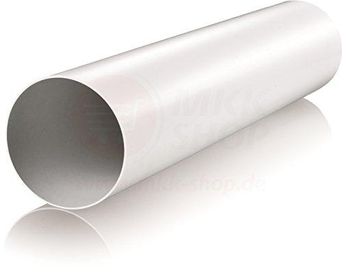 Tube d'aération en plastique Tube rond entrée / sortie d'air Réducteur connecteur Ø 80 100 110 120 125 150 200 mm Système de ventilation Coude ABS clapet anti-retour Bride PVC, Kunststoffrohr (50 cm), Ø 100 mm