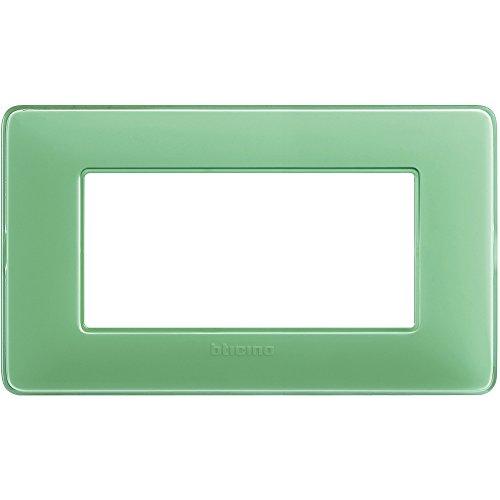 Bticino AM4804CVC Placca Matix 4 Moduli, Tè Verde