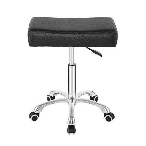 Taburete giratorio con ruedas de altura ajustable y resistente, para oficina, hogar, escritorio, salón, etc.