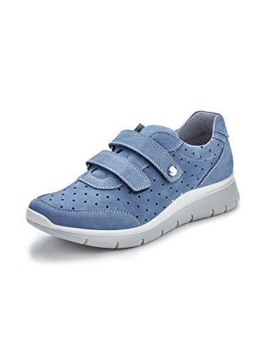 Avena Damen Wohlfühl-Klett-Sneaker Blau Gr. 40