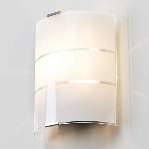 Lindby Wandleuchte, Wandlampe Innen 'Vincenzo' (Modern) in Weiß aus Glas u.a. für Wohnzimmer & Esszimmer (1 flammig, E14, A++) - Wandstrahler, Wandbeleuchtung Schlafzimmer /, Wohnzimmerlampe