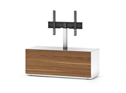 Sonorous STD 111F-WHT-WNT-BS Studio TV-Lowboard für 132,08 cm (52 Zoll) Fernseher weiß/walnuß