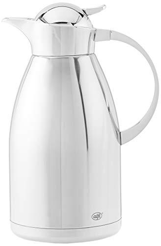 alfi Isolierkanne Albergo Top Therm Vakuum Isolierkanne für heiße und kalte Getränke, 1 l, edelstahl 2 Liter edelstahl