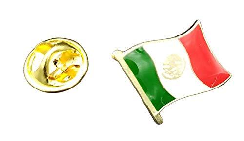 Gemelolandia   Pin de Solapa Bandera Mastil Mexico 16x15mm   Pines Originales...