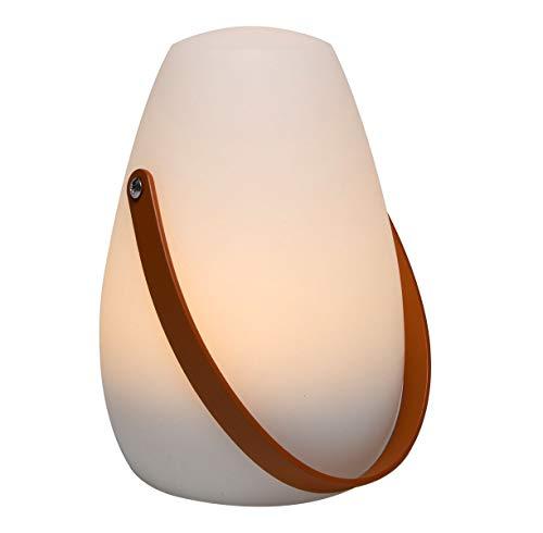 LED Tischlampe mit Timer - warmweiß - 20 cm x 13 cm - Outdoor Tisch Leuchte Gartenlampe Deko Lampe Außen und Innen