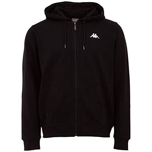 Kappa Mens 707117-005_M Sweatshirt, Black, M