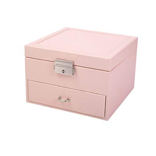 Yousiju Caja De Joyería Cosméticos Caja De Almacenamiento Cajón Joyas Pendiente Collar Caja De Acabado Caja De Almacenamiento De Exhibición De Joyas (Color : A)
