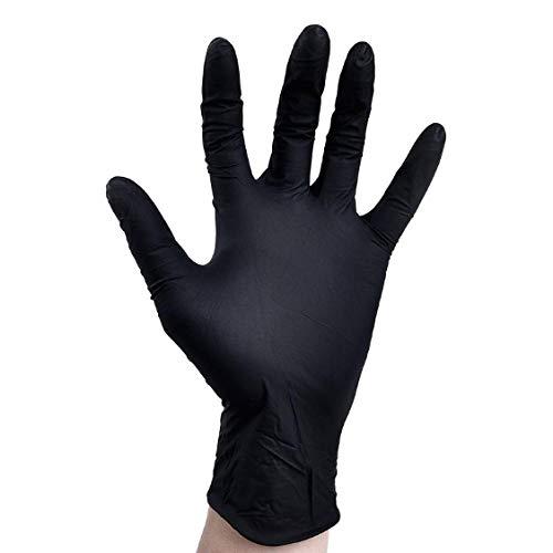 Wegwerphandschoenen van latex, 100/200 stuks, voor keuken, vaatwasser, werk, medisch hulpmiddel, tuin, rubber, gezondheidsverzorging, zonder contact M 100 stuks.