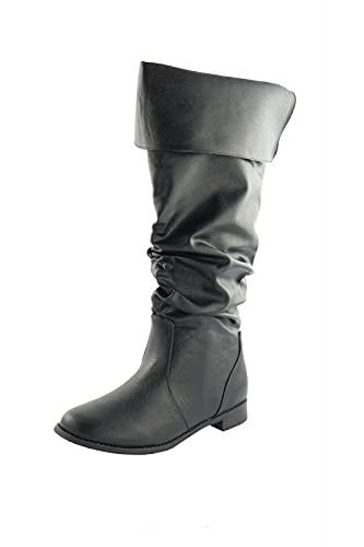 Mittelalter Stiefel Schuhe Piratenstiefel LARP Pirat Ritter Piraten Musketier Schuhgröße 44