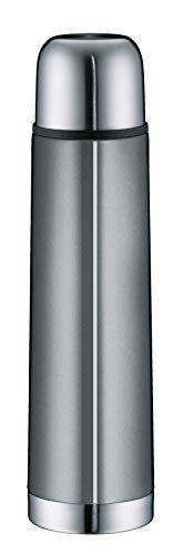 alfi isoTherm Eco Edelstahl Thermosflasche grau 750ml, Isolierflasche mit Trinkbecher 5457.218.075 Drehverschluss dicht, Thermoskanne hält 12 Stunden heiß, 24 Stunden kalt, BPA-Frei