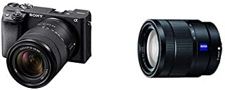 Sony Alpha A6400 Mirrorless Camera with 18-135mm Lens - E Mount Compatible - Ilce-6400M/B with Sony SEL1670Z Vario-Tessar ...