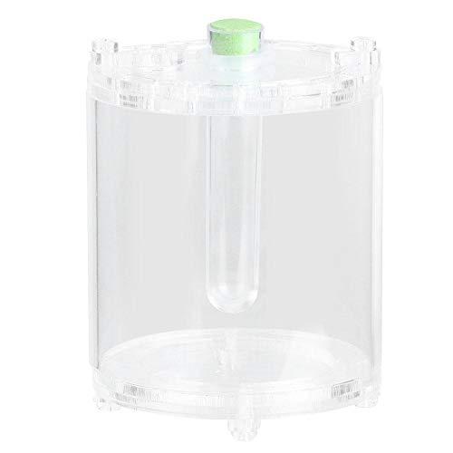 Atyhao Reptiele voederbox, transparante mantis kever van acryl cultiveer container insecten, de Living Box met vochtbuis voeden.