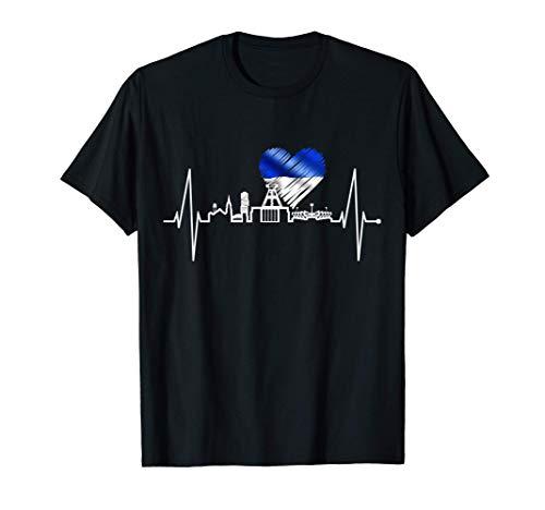 Bochum Skyline Herzschlag Herz Ruhrpott Kohle Heimat Bochum T-Shirt