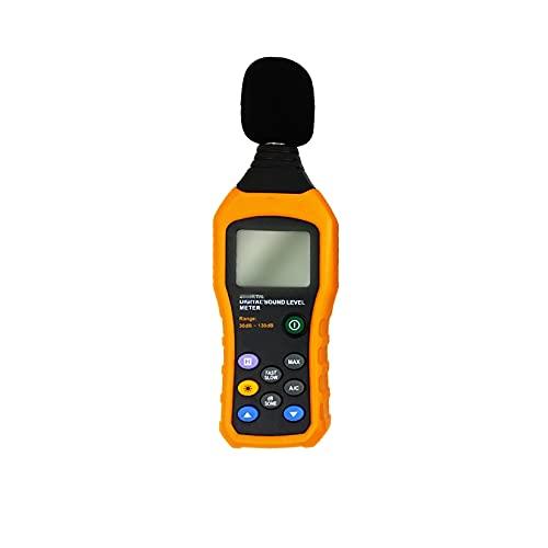 GMZS Decibel medidor/Lector de Nivel de Sonido, Lector de medidores de Nivel de Sonido Digital portátil, Pantalla LCD Grande con Pantalla de Lectura Dual, Rango de medición 30-130 DBA