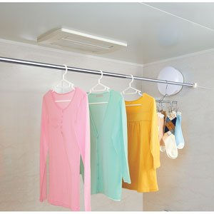MORY ステンレス 浴室用伸縮竿 BAS-1.8