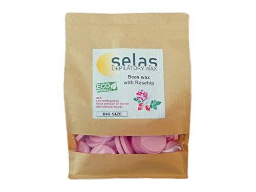 Cera depilatoria de fácil fusión Rosa 2kg SELAS (PACK AHORRO). Depilación sin...