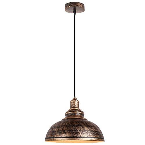 Luz colgante moderna Lámpara de colgante nostálgica americana Llave de bajo costo Misterioso Craft Colgante Ajustable E27 Luces de techo de hierro Sencillez Lámpara decorativa de solventa Adecuada fo