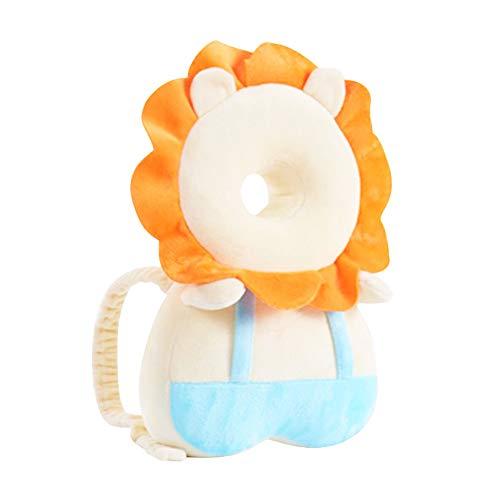 WEISHA Almohada Protección para la Cabeza del Bebe Protector de Cabeza de Bebé Ajustables Suave Anti-Caídas Soporte para la Cabeza del Bebé, para Edad 0-36 Meses Bebé (León)