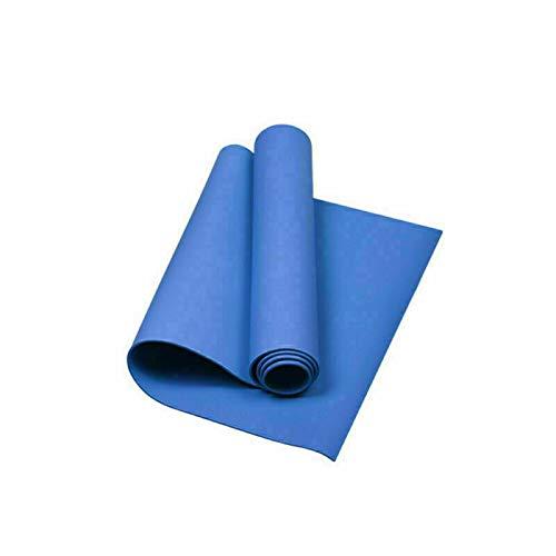 GOLDSMITH - Esterilla de yoga, 4 mm de grosor, antideslizante, para yoga, pilates y gimnasia, compacta, ligera para gimnasio, entrenamiento, viajes, mujeres y hombres, 173 x 60 cm, color azul