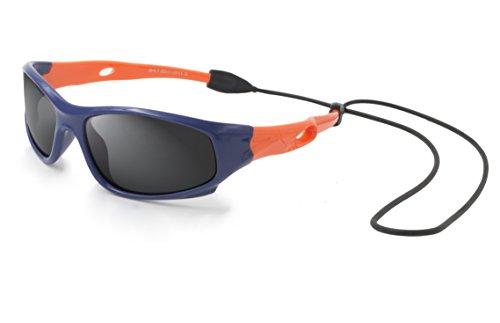 VATTER TR90 Unzerbrechlicher Polarisierte Sportbrille Sonnenbrillen für Kinder Jungen Mädchen Jugend DE 816blueorange