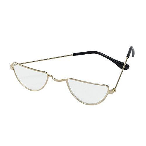 Bristol Novelty ba733Halbmondbrille, gold, Einheitsgröße