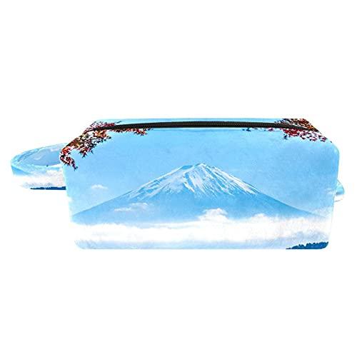 Neceser Maquillaje Paisaje de montaña Bolso de Cosméticos de Viaje Portátil Bolsas de Maquillaje impresión Organizador de Cosméticos para Mujeres Niñas 3