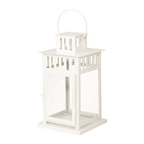 Ikea 302.701.42 - Farol para vela de bloque, color blanco, para interior y exterior, 27,94 cm