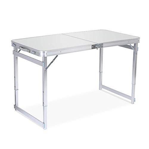 AWJ Tavolo da Campeggio, Tavolo di deformazione in Alluminio Regolabile in Altezza per Interni ed Esterni Comodo Campeggio per Escursionismo e Picnic all'aperto