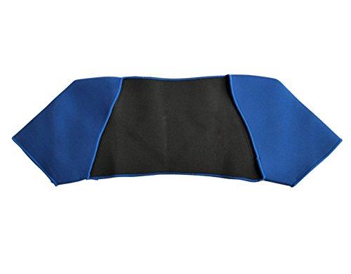 Fascia Supporto Per Spalle Neoprene Supporti per Spalle Protezione Spalle Correzione Schiena Elastica Proteggi Fitness, Taglia Unita, Blu