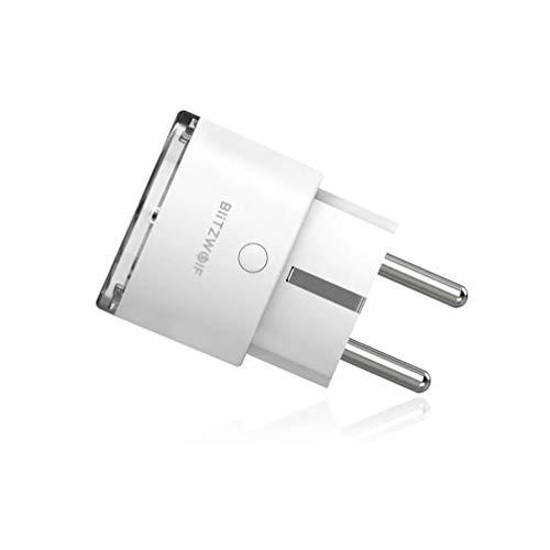 Blitzwolf BW-SHP6 Pro WiFi Smart Steckdose EU – UK-Stecker 220V-240V 15A 3450W Metering Version Kompatibel mit Alexa Google Home
