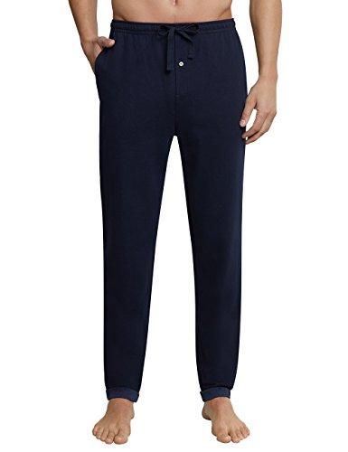 Schiesser Herren Mix & Relax Hose Lang Schlafanzughose, Blau (Dunkelblau 803), X-Large (Herstellergröße: 054)