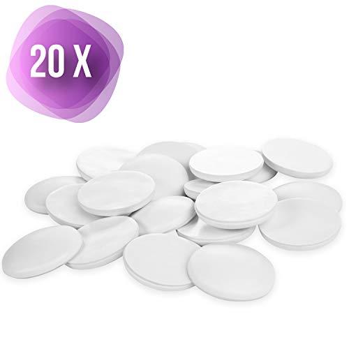 Filzada ® 20x Türstopper Wand Selbstklebend Weiß - 40mm Durchmesser - Professioneller Puffer für Tür und Wand
