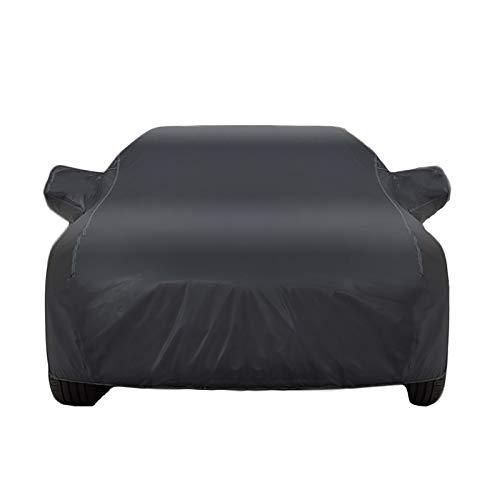 CARCOVER Autoabdeckung Draussen Atmungsaktiv Wasserdicht Kompatibel Mit Chevrolet Cavalier/Camaro/Captiva Auto Plane All Wetter UV/Schnee/Regen/Sonne (Color : Black, Size : Camaro)