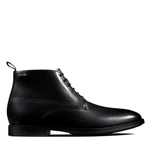 Clarks Herren Ronnie Up GTX Klassische Stiefel, Schwarz (Black Leather Black Leather), 44.5 EU