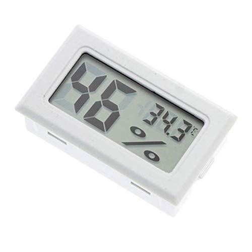 Logicstring Termómetro Portátil Integrado Higrómetro Inalámbrico Electrónico Digital Medidor De Humedad De Temperatura Interior (Blanco)