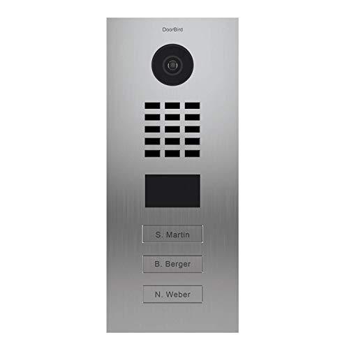 Fantastic Deal! DoorBird Multi-Dwelling IP Intercom Video Door Station D2103V - Flush Mount - 3 Call...
