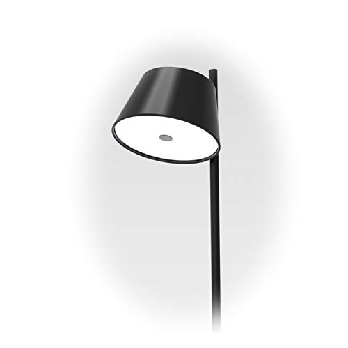 Lámpara de pie 1 x 46W E14 con Estructura de Metal Lacado y Pantalla de Aluminio, Modelo Tam Tam satel Mini P, Color Negro, 24 x 24 x 116 centímetros (Referencia: A633-020 39)