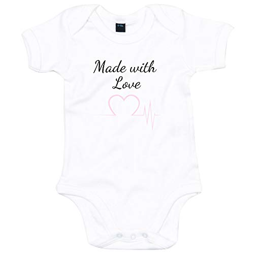 Made with Love Babygrow Baby Reveal Barboteuse bébé fille bébé garçon - Blanc - 6-12 mois
