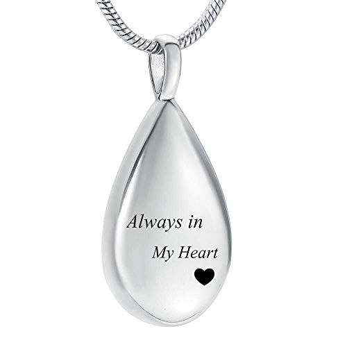 necklace Ladies fashion Stainless Steel Teardrop Cremation for Ashes Family Keepsake Jewelry Memorial Urn Pendant for Women Men Hoisting