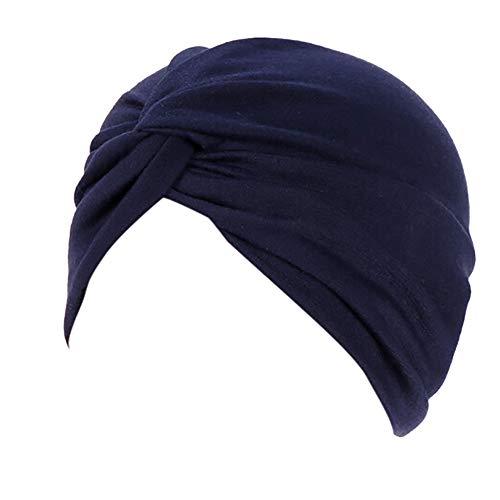 Lazzboy Frauen-Indien-Hut moslemischer Rüsche Beanie-Turban-Wickelkappen-Winter-Hut Damen Turban Kopfbedeckung Fashion in verschiedenen Farben(I)