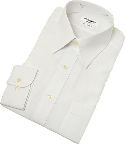 綿100%形態安定「日清紡シャツ」白 39-80
