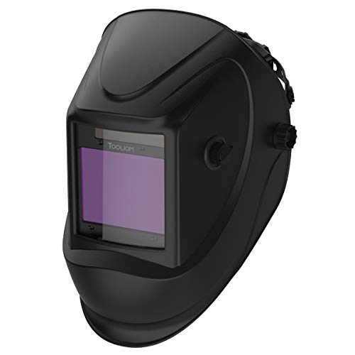 "TOOLIOM Welding Helmet, True Color Auto Darkening 1/1/1/2 Large Viewing 3.94""x 3.27"" Welder Mask Hood with Weld/Grind/Cut Mode for TIG MIG/MAG MMA Plasma Grinding"