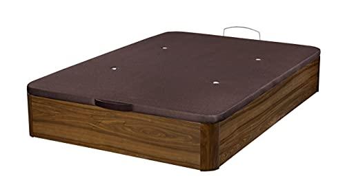 Santino Canapé Abatible Wooden Gran Capacidad Nogal 135x190 cm con Montaje a Domicilio Gratis