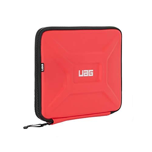 Urban Armor Gear universal Tasche für Apple iPad, Samsung Galaxy Tab, Lenovo Tablet, Microsoft Surface Go uvm. (Universelle Tablet Hülle bis 11'', Hülle mit Netztasche, verschleißfest) rot